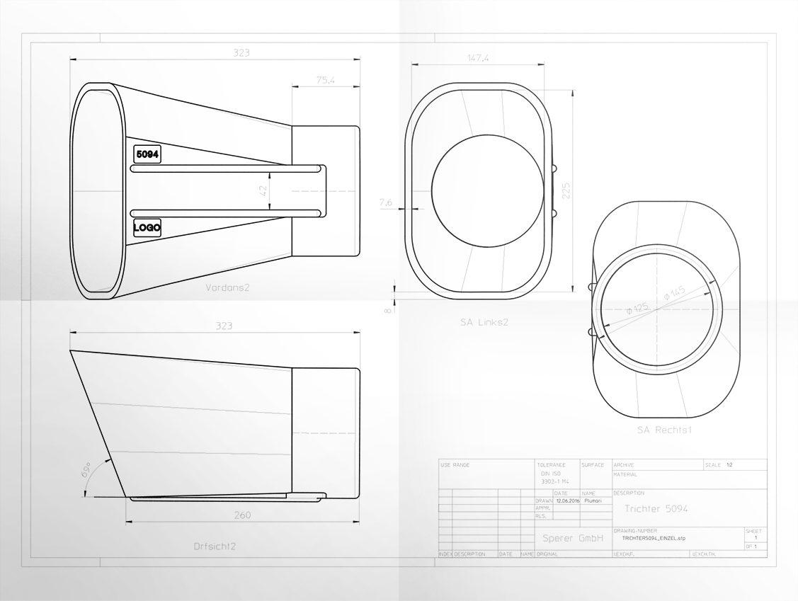 Konzeptzeichnung Konstruktionsdienstleistungen